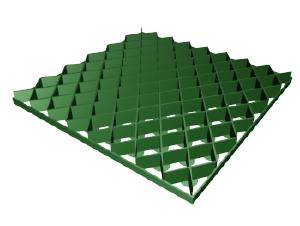 Фото Газонная решетка ромб РГ-60.60.4 пластиковая зеленая