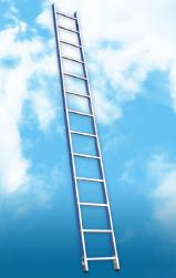 Фото Лестница алюминиевая приставная, 12 ступеней, max высота 3 м
