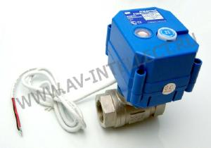 """Фото Кран шаровой с электроприводом НС220В 1/2"""" Защита от протечек воды."""