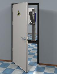 Фото Дверь рентгенозащитная двупольная