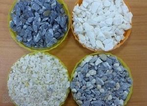 Фото Мраморный щебень, цемент, мука известняковая, мраморная крошка