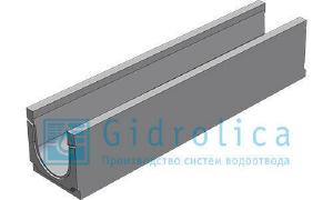 Фото Лоток водоотводный бетонный с уклоном 0.5% BGU,1000*298*350-395,DN200.C250