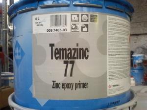 Фото Краска эпоксидная Темацинк 77 (Temazinc), холодное цинкование (Тиккурила)
