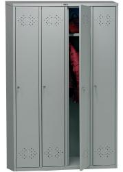 Фото Шкаф 4 х секционный для одежды металлический LS Практик