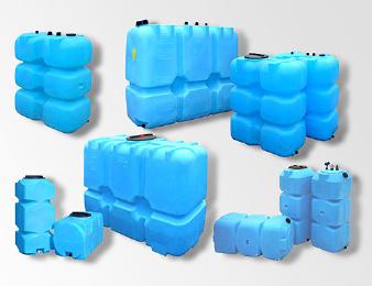 Топливные баки, емкости для воды из пластика 500-2000 л.