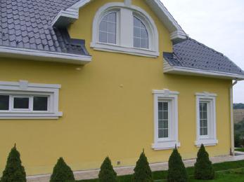 Утепление фасадов пенопластом, отделка фасадной лепниной
