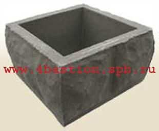 Декоративный забор, бетонные заборные блоки, Блок столба БС-30.