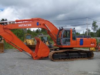 Аренда гусеничного экскаватора Hitachi вес 20-30 тонн от собственника в СПб
