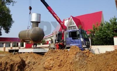 Автономное газоснабжение частного дома, коттеджных поселков, резервуары для СУГ