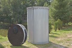 Объем 3,1 м3. Резервуар разборный, вертикальный в защитном пенале (РРВ-3,1)