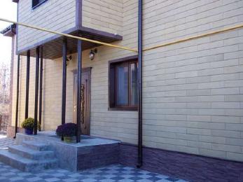Сайдинг каменный фасадный «Донрок» под кирпич.