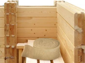 Межвенцовый утеплитель для домов из клеенного бруса Политерм и Avaterm