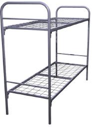 Кровати металлические двухъярусные для рабочих и строителей. кровати оптом недорого