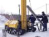 Забивка железобетонных свай. Свайно-забивная установка. Фундамент за 1-2 дня.