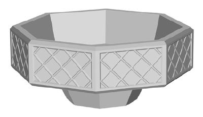 Вазон «Восьмиугольный» уличный бетонный
