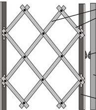 Как сделать складные решетки