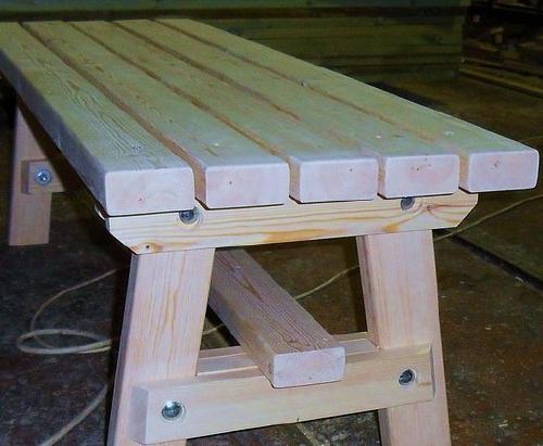 Сделать скамейку своими руками в баню