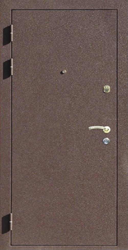 металлические двери коричневого цвета